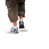 Walking. Man walking with clipping path Royalty Free Stock Images