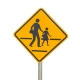Walking across Traffic Signs Royalty Free Stock Photo