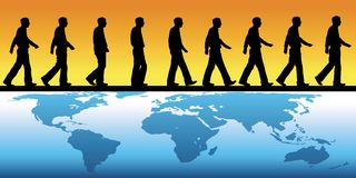 Walking across the world Stock Photos