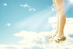 Walking on air Royalty Free Stock Photo