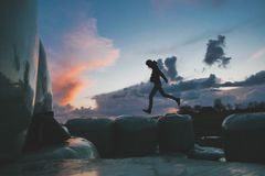 Walking on air Royalty Free Stock Photography