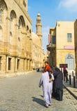 Walking in Al-Muizz street Royalty Free Stock Photo