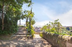 Walking alleys in the Cristal Palace Gardens. Porto, Portugal royalty free stock images