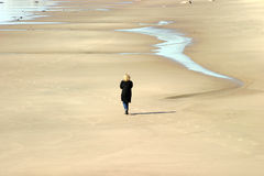 Walking alone Royalty Free Stock Image