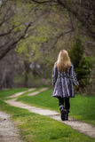 Walking alone Stock Photography