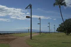 Path along the ocean in Maui Island Royalty Free Stock Photography