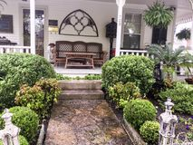 Springtime in Historic Tennessee. Walking along the historic streets of Franklin Tennessee,on a rainy afternoon, offers many beautiful sights.  Historic, one Royalty Free Stock Photo