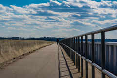 Walking Along Lake Murray Dam South Carolina Stock Image