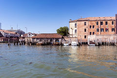 Walking along the narrow streets and canals of Venice, Italy Stock Photography