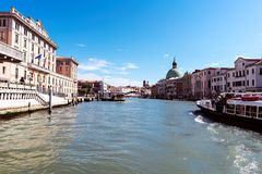 Walking along the narrow streets and canals of Venice, Italy Royalty Free Stock Photo