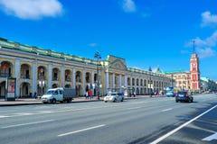 Walking along the Nevsky Prospect Stock Image