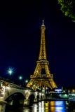 Walking along River Seine Stock Images