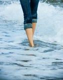 Walking along the sea cost Stock Photo