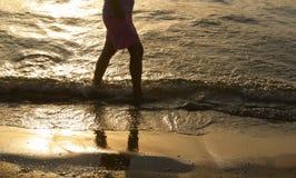 Walking along the sea Stock Photography