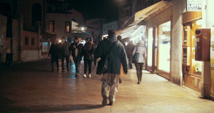Walking Along the Shopping Street in Venice, Italy stock video footage