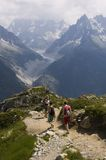 Walking in the alps Royalty Free Stock Photo