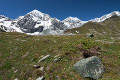 Walking on the Alps in Italy. Order mountain on the Alps Stock Images