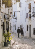 Walking in Altea Stock Image