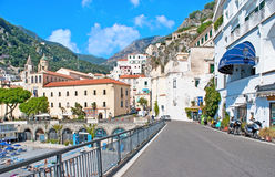 Walking in Amalfi Stock Image