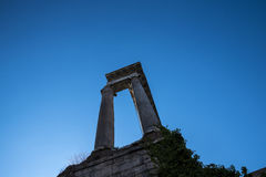 Walking through the Ancient Forum in Rome Italy. Rome Italy, the Eternal city, which has been a destination for tourists since the times of the Roman Emperors Royalty Free Stock Photos