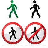 Walking And No Walking Stock Image