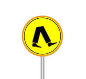 Walking area sign Stock Image