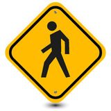 Walking area sign Royalty Free Stock Photography