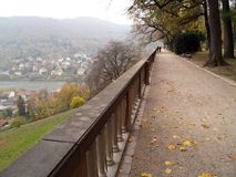 Walking around. Heidelberg's schloss stock image