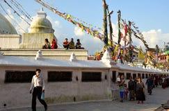 Walking Around Boudhanath Stupa Royalty Free Stock Image