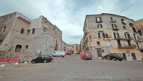 Walking around the city Minturno Italy stock footage