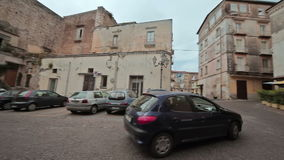 Walking around the city Minturno Italy stock video footage