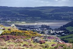 Walking around Conwy and its Mountain Stock Photo