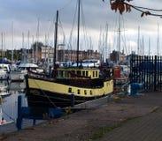 Walking Around Hull Marina And Walking Along The River Humber And Docks. Stock Photos