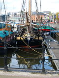 Walking around Hull Marina and walking along the River Humber and Docks. Stock Images