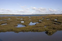 Walking around the inland sea Royalty Free Stock Image