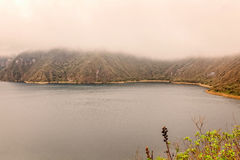 Walking Around Laguna Cuicocha Lake In Ecuador Royalty Free Stock Photo
