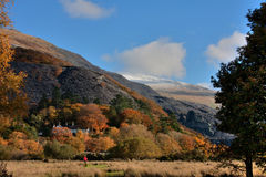 Walking around llanberis Stock Photography