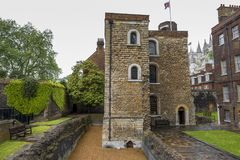 At the backyard of Westminster Abbey Stock Photography