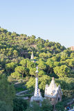 Walking around Park Guell in Barcelona Royalty Free Stock Photography