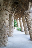Walking around Park Guell in Barcelona Royalty Free Stock Photos