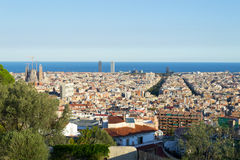 Walking around Park Guell in Barcelona Royalty Free Stock Photo
