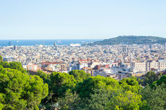 Walking around Park Guell in Barcelona Stock Images