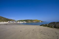 Walking around Porth Dinllaen Royalty Free Stock Photo