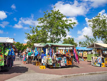 Walking around Punda. Market- Views around Curacao a Caribbean Island Royalty Free Stock Images