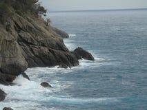 Walking around the seaside of Portofino in Liguria royalty free stock photos