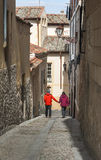 Walking around Segovia Stock Image
