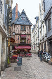 Walking around Tours. At the narrow streets of Tours town. France Royalty Free Stock Images
