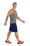 Walking Athlete In Sport Clothes Royalty Free Stock Photo