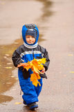 Walking through the autumn park (01) Royalty Free Stock Image