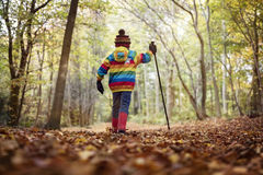 Walking in autumn and winter Royalty Free Stock Images